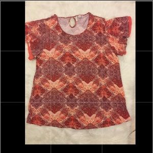 Cato Est. 1946 Flare Short Sleeves Top  14W/16W